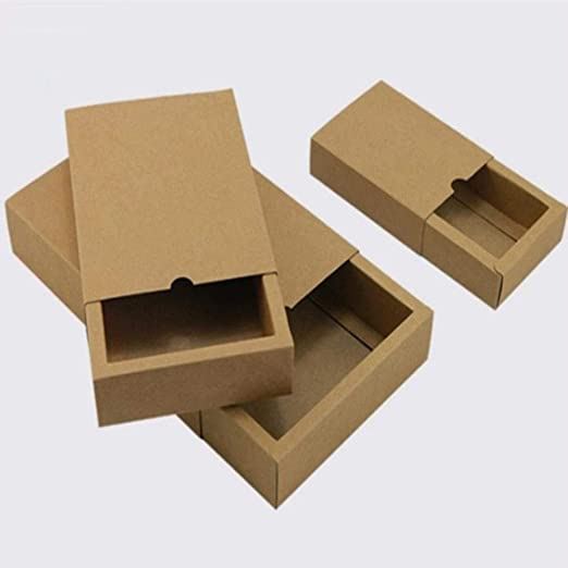 Caja de 10 tamaños de cajón, Caja de Papel Kraft para Manualidades ...