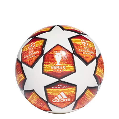 adidas Finale Mini Ball White/Active Red/Scarlet/Solar Red Bottom: Bright Orange/Solar Gold/Black, 1