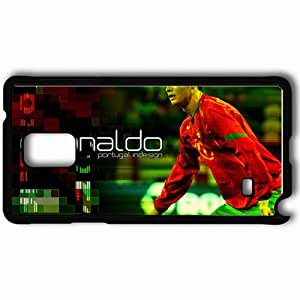 Personalized Samsung Note 4 Cell phone Case/Cover Skin Amazing nice cristiano ronaldo Black