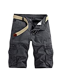 Cinhent Pants Mens Work Sports Summer Casual Cargo Shorts Trouser with Pockets