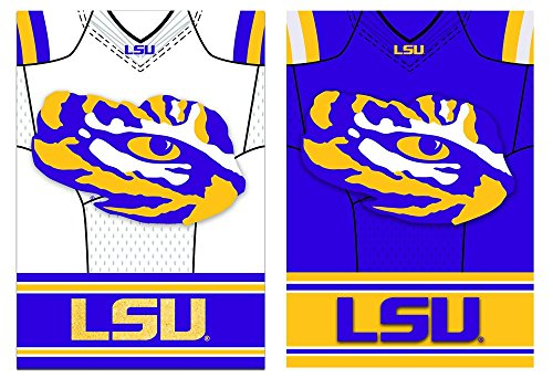 Team Sports America LSU Tigers Double Sided Jersey Suede Gar