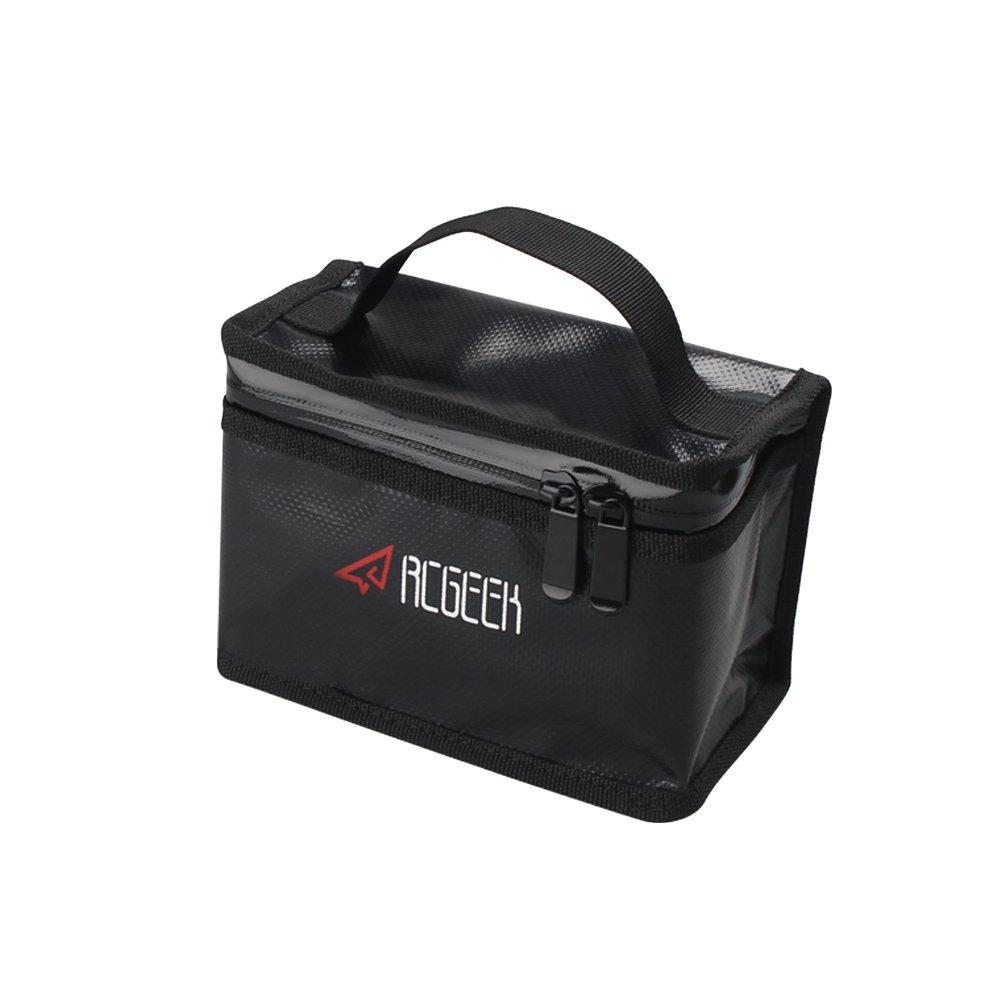Large Capacity Battery Bag BonFook Lipo Safe PVC Battery Storage Guard Bag Fire Resistant Explosion Proof Compatible DJI Spark Mavic Pro Mavic Air Phantom3 4 165x110x85mm