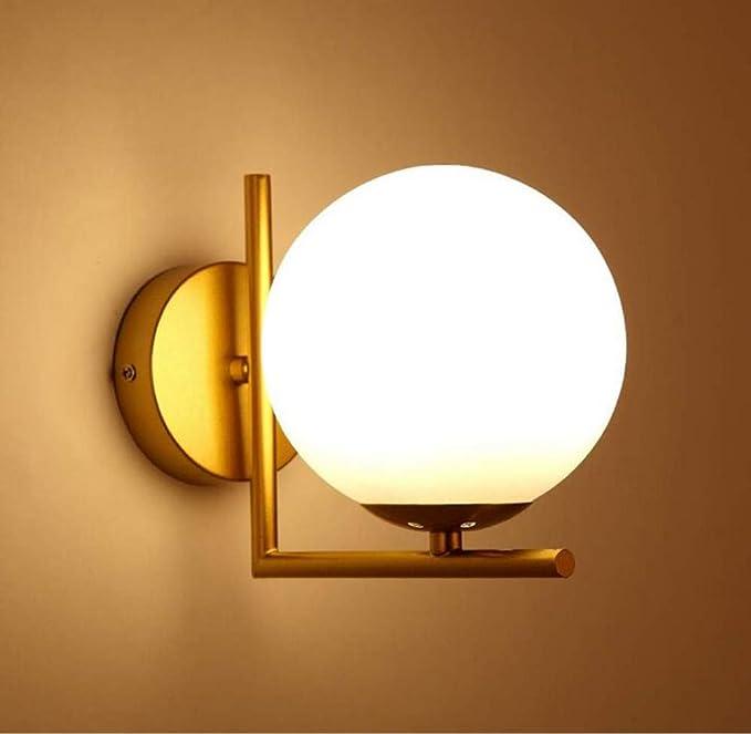 Wall Light Postmodern Bronze Wall Lamp High-end Hotel Personality Creative Corridor Wall Lamp Sub-White Ball Glass Lamps - - Amazon.com