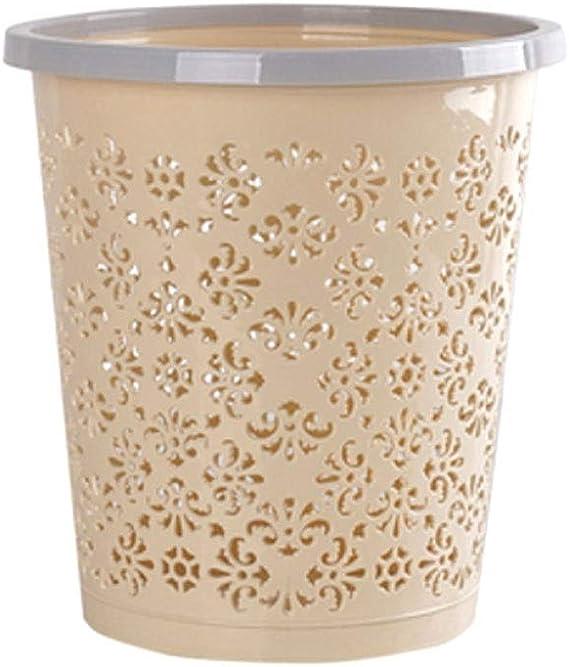 Papelera de plástico sin tapa, contenedor de basura para ...