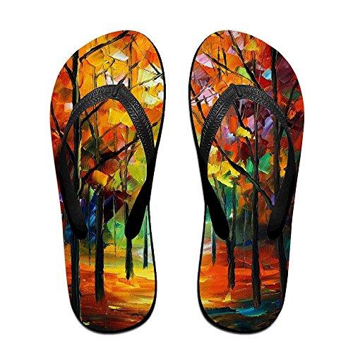Kids Flip Flops Women Men PTJHKET Slippers for Painting Oil Tree zd5wz4xOqF