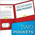 Oxford Twin Pocket Folders, Letter Size, 25 per Box