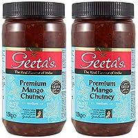 Geeta's Premium Mango Chutney Mediano 1,5 kg comida