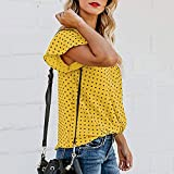 Women's Cute Polka Dot Print T-Shirt Summer