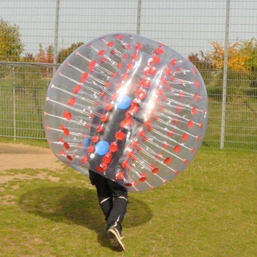 HolleywebTM Red Bubble Soccer Ball Dia 5' (1.5m) Human Inflatable Bumper Bubble Balls ()