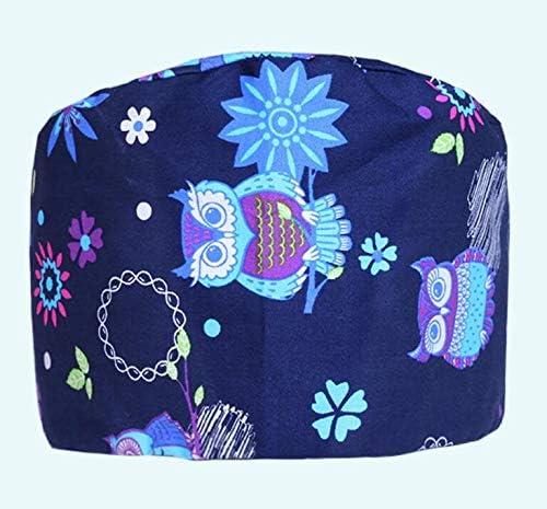 Wukong Paradise Tie Dos Ajustable Coton Impression Cap infirmi/ère Chapeau m/édecin m/édecin Casquette de Travail Noir