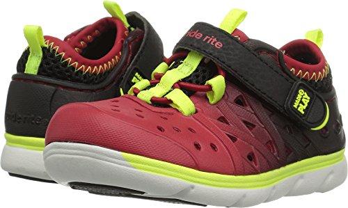 Stride Rite Made 2 Play Phibian Sneaker Sandal Water Shoe (Toddler/Little Kid/Big Kid), Black/Red, 6 M US Toddler by Stride Rite