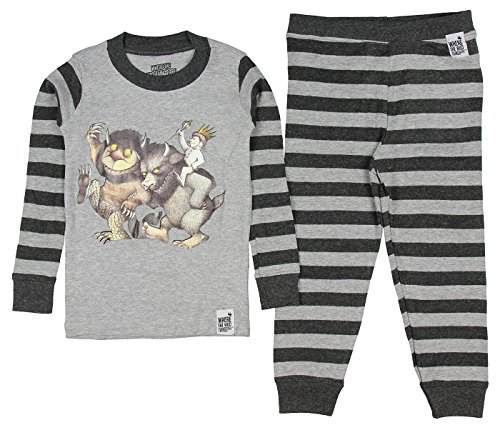 Where the Wild Things Are Toddler Boys' Wild Things Bookjama Pajama Set, Gray, 4T]()