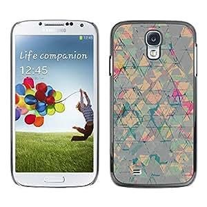 Paccase / SLIM PC / Aliminium Casa Carcasa Funda Case Cover - Abstract Art Triangle Shapes - Samsung Galaxy S4 I9500