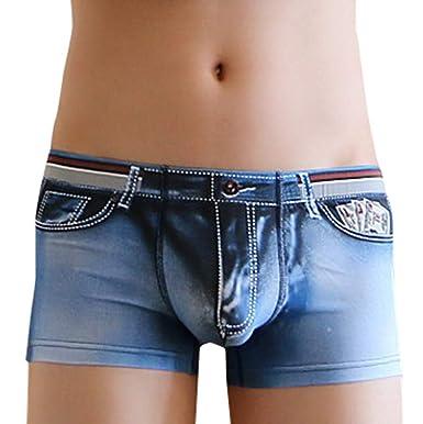 VECDY Hosen Men Denim 3D Three-dimensional Printing Men Tide Male Flat Pants Underwear Sporthosen Freizeit Stretchhose Shorts