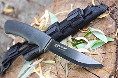 Morakniv Bushcraft Carbon Fixed Blade Knife with Carbon Steel Blade, Black, 0.125/4.3-Inch