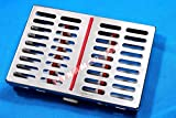 German Stainless 1 Dental Sterilization Cassette Rack Tray Box for 10 Surgical Instruments