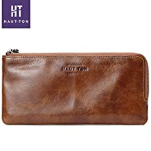 Womens Ladies Genuine Leather Wallets Long Clutch Credit Card Purse Wallets for men
