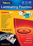 Fellowes 5328901 53289 Capture Self-Adhesive Laminating Film A4 125 Microns Pack of 100 Transparent