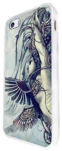 809 - Cool Fun Virgo Sign Design iphone SE - 2016 Coque Fashion Trend Case Coque Protection Cover plastique et métal - Blanc