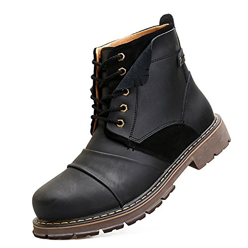 ENLEN&BENNA Men's Work Boots Fashion Casual Boot Motorcycle Boots Ankle Boots Dress Boots Combat Boots Cap Toe by ENLEN&BENNA (Image #3)