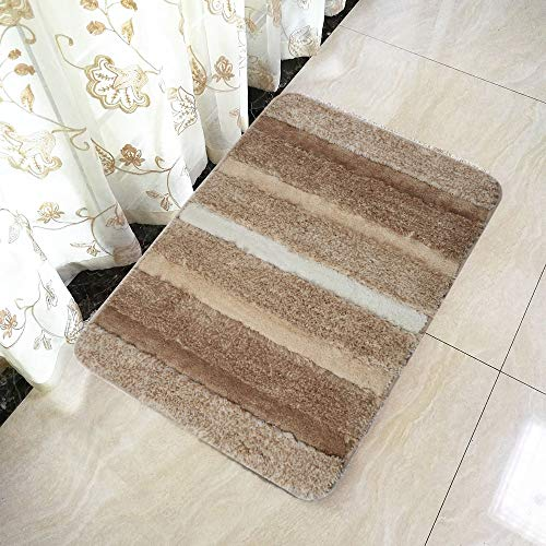 - Hihome Bath Rug Accent Rug Durable Washable Thick Water Absorption Area Rug Entrance Rug Comfortable Foot Feeling (2'x3', Beige 6090)