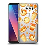 Head Case Designs Corgi Kawaii Puppies and Sweets Hard Back Case Compatible for LG V30 / V30S ThinQ / V35 ThinQ