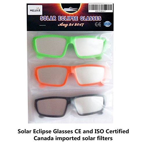 plastic solar eclipse glasses ce and iso certified, safe solar ...