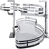 Hardware Resources BCSO18PCWH-RH White Right Handed Blind Corner Swing Out, White with Chrome
