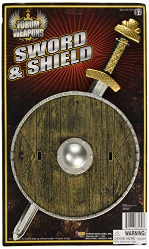 Forum Novelties 8-Inch Shield and 15.5-Inch Sword Costume Accessory