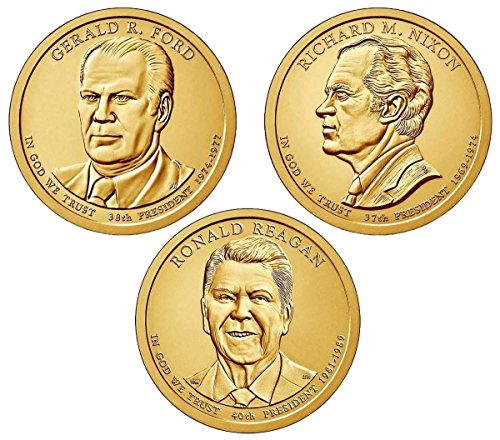 2016 D presidential Dollar Denver mint 3 coins Uncirculated
