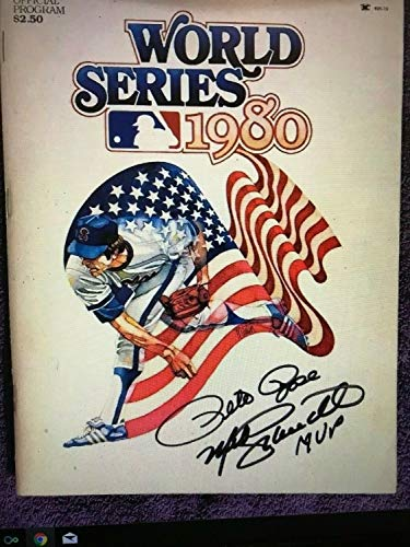 Awesome Pete Rose And Mike Schmidt Hand Autographed Signed 1980 World Series Pro - Authentic Memorabilia
