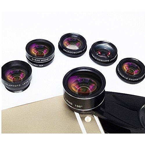 28e7cae77098eb new Phone Camera Lens 5 in 1 Kit, 2XTelephoto Zoom Lens+198°Fisheye ...