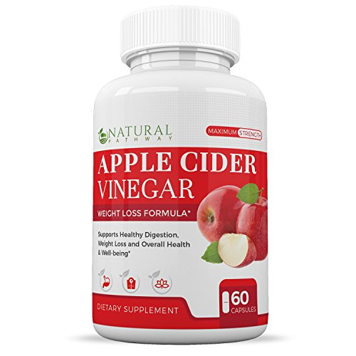 Apple Cider Vinegar Pills for Weight Loss Support, Healthy Digestive Function, & Overall Health by Natural Pathway - 60 Capsules