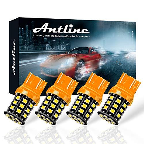 Antline 7443 7440 T20 992 7441 7444 W21W LED Bulbs Amber Yellow, 12-24V Super Bright 1000 Lumens Replacement for Turn Signal Blinker Lights, Side Marker Lights (Pack of 4)