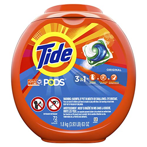 Tide PODS Original Scent HE Turbo Laundry Detergent Pacs, 72 count