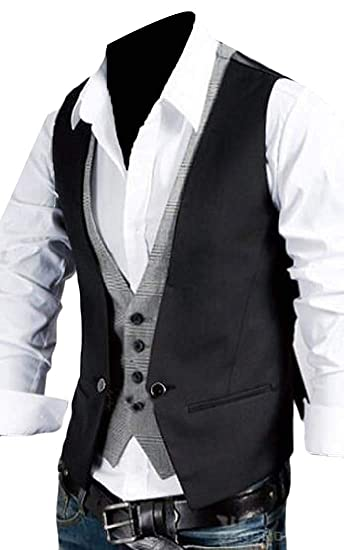 Bingsai Chaleco De Vestir Para Hombre Corte Ajustado