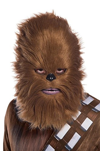 Rubie's Unisex-Adults Star Wars Classic Chewbacca Mask With Artificial Fur, As Shown, -
