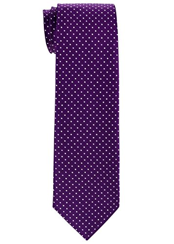 Purple Mini Dot (Retreez Dual Color Mini Polka Dots Woven Boy's Tie (8-10 years) - Dark Purple)