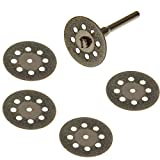 Anytime Tools 5 DIAMOND CUT-OFF WHEELS GLASS ROCK LAPIDARY DISC SAW for ROTARY TOOLS