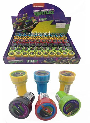 New! (60ct) Teenage Mutant Ninja Turtles Tmnt Stamps Stampers Self-inking Party Favors- Full Box! (Ninja Turtle Stamps compare prices)