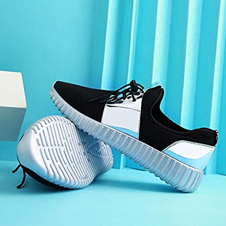 WUYIXIAO Shoes2019New Fashion Men Casual Shoes Men Shoes Flats Sneakers Breathable Mesh Lovers Casual Shoes Trainers Men Shoes