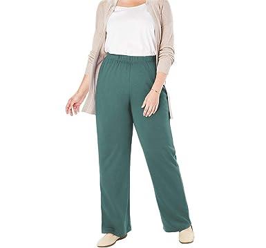 11b6977e8ef Woman Within Plus Size 7-Day Knit Wide Leg Pant at Amazon Women s ...