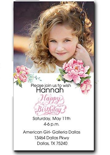 Invitation Barbie Birthday Card - Party invitations for girls/printed invitations/kids birthday/pink/set of 20