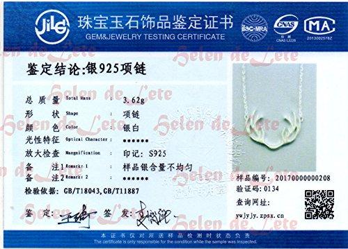 Helen de Lete Innovative Deer Horn Antler Sterling Silver Collar Necklace 1604101353