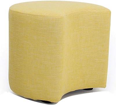 TLTLJD Footstool, Creative Solid Wood Footstool Modern Living Room Sofa Bench Door Change Shoe Bench (Color : Yellow)