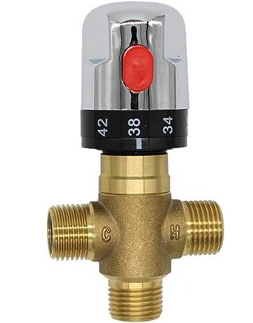 laton cobre mezclar agua fria caliente para grifo mezclador termostatico valvula de ducha calentador de agua