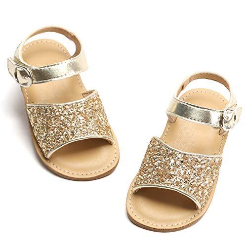 Bear Mall Girls Shoes Soft Rubber Princess Flat Shoes Summer Baby Girl Sandals(Toddler/Little Kid) ¡