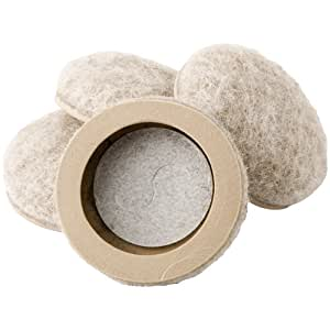 "Formed Felt 1"" Furniture Movers for Hard Surfaces (4 piece) - Oatmeal, Round SuperSliders"