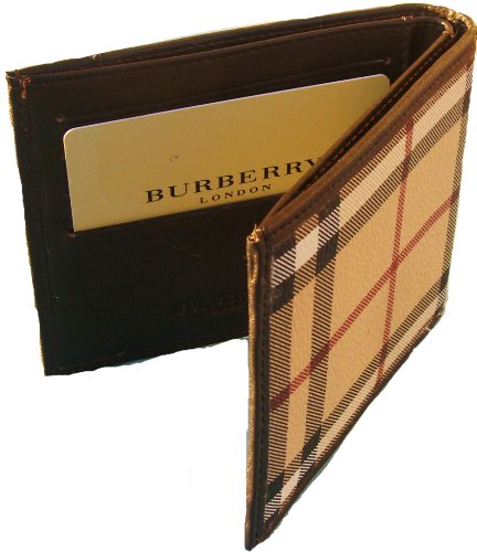 BURBERRY AUTHENTIC MEN BIFOLD WALLET NEW by BURBERRY
