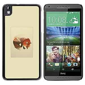 EJOY---Cubierta de la caja de protección la piel dura para el / HTC DESIRE 816 / --Montañas del lobo